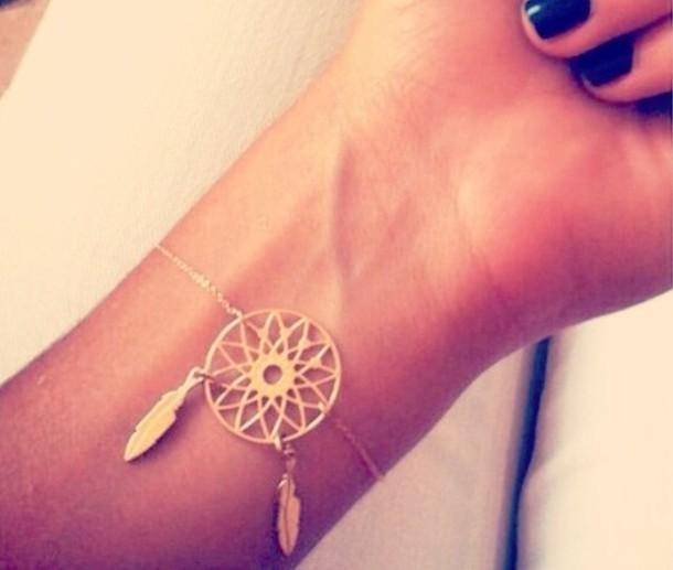 Jewels Dreamcatcher Bracelets Dream Catcher Bracelet Gold Interesting Dream Catcher Gold Bracelet