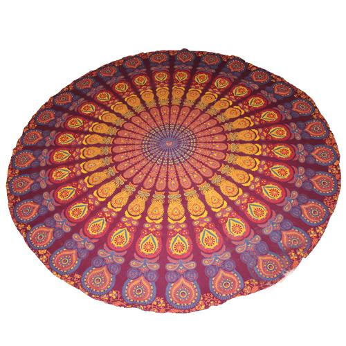 Handmade Sanganeer Peacock Mandala Tapestry