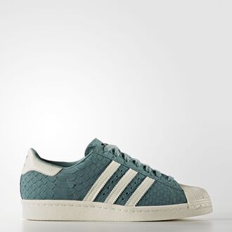 shoes superstar 80 80s style vapour steel adidas adidas originals superstar blue snake skin sneakers