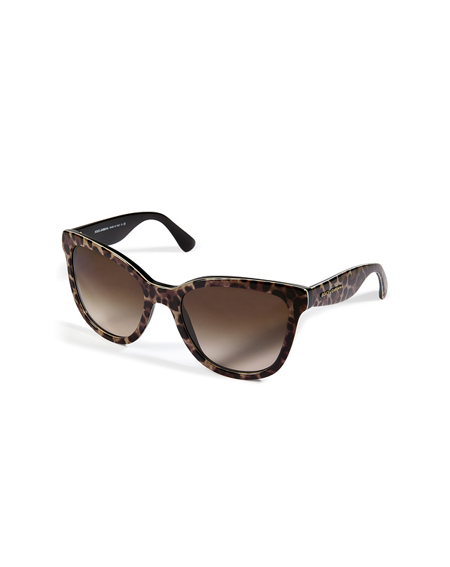 Acetate Animal Print Gradient Sunglasses in Leopard from DOLCE & GABBANA | Luxury fashion online | STYLEBOP.com