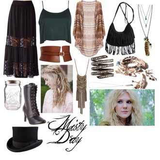 shirt misty day black bag maxi skirt tank top fringed bag brown boots heel boots feather necklace bracelets top hat hippie gypsy aztec cardign skirt shoes jewels