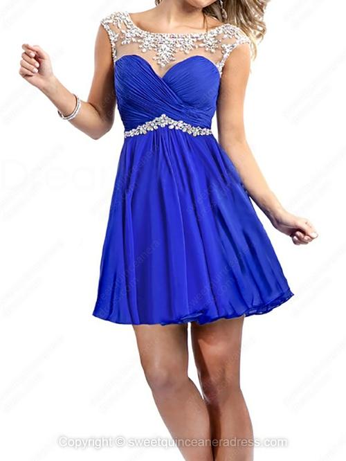Line chiffon short/mini ruffles sweet sixteen dresses with various styles