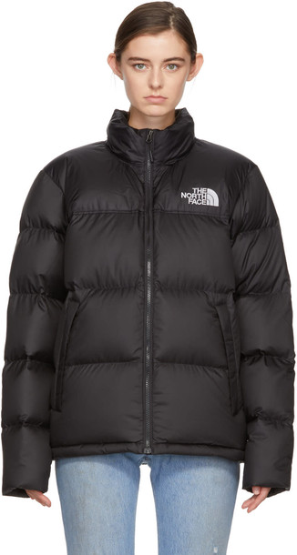 a51e42b358a1 The North Face Black Down Novelty Nuptse Jacket - Wheretoget