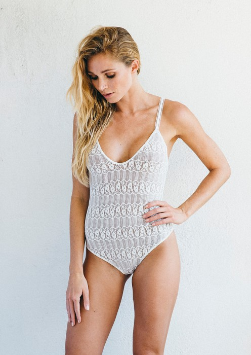 The colette monokini white lace