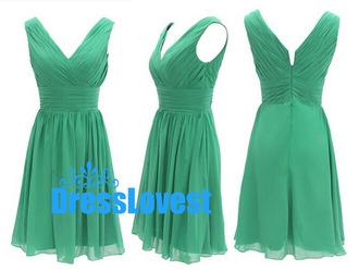 green bridesmaid dress short bridesmaid dress chiffon dress chiffon dress party