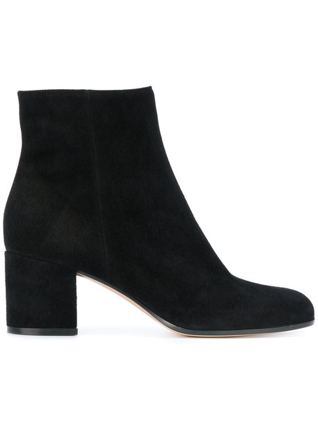 Gianvito Rossi women boots leather suede black shoes
