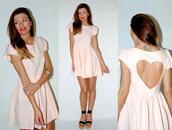 backless,cap sleeve,baby pink,babydoll dress,bag,dress