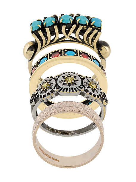 IOSSELLIANI women gold grey metallic jewels