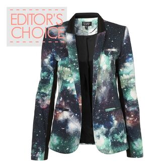 cardigan galaxy print blazer jacket menswear mens jacket