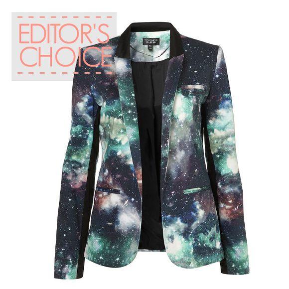 galaxy print jacket cardigan blazer