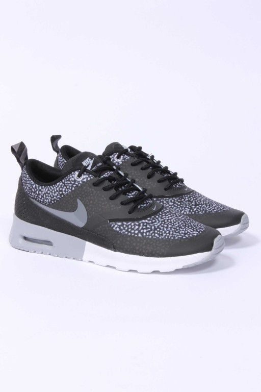 NIKE WOMENS AIR MAX THEA PRINT Black/Grey Dot 599408-002 safari training running