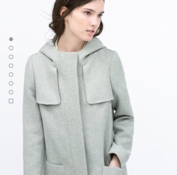 coat grey zara new winter outfits