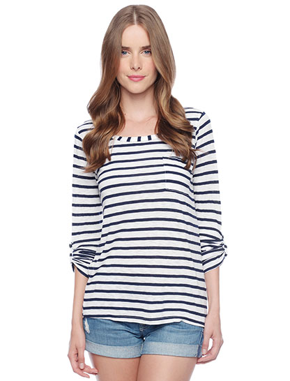 Venice Stripe Pocket Tee