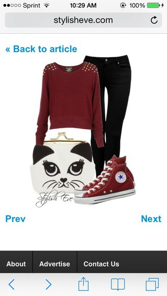 studs red shoes converse chuck taylor all stars high tops jeans black