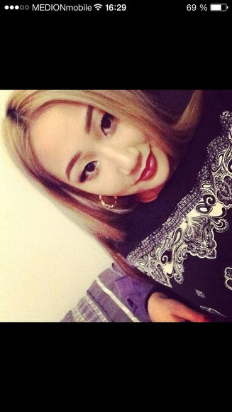 sweater black black sweater tshirt asian kpop cl