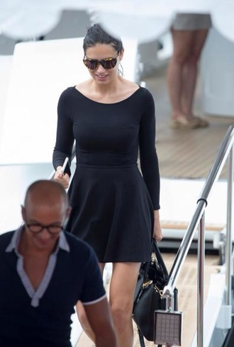 dress adriana lima little black dress