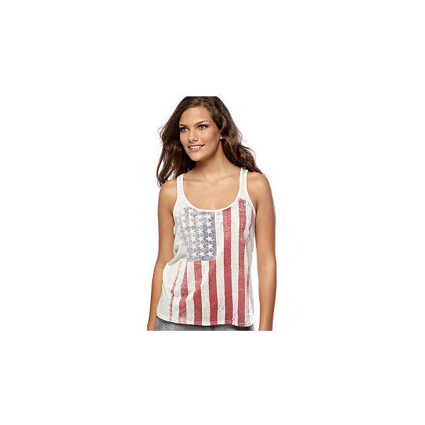 Living Doll American Flag Tank Top - Polyvore