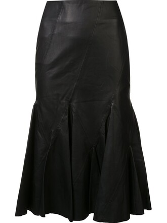 skirt women leather black
