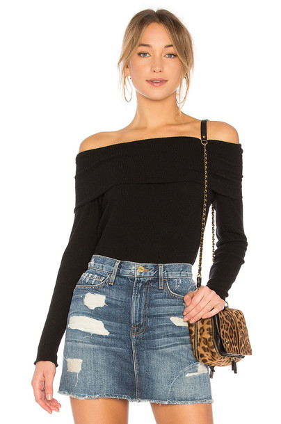 Chaser pullover love cozy black sweater