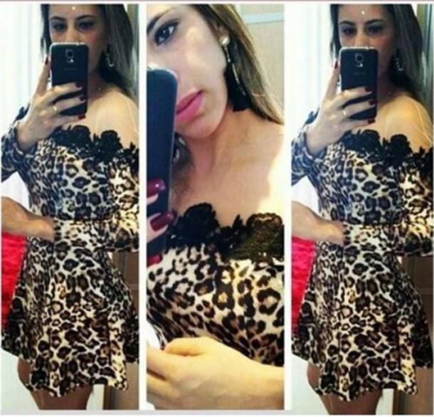 dress leopard print clubwear mesh dress sexy mini dress