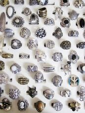 jewels,silver,ring,occult,666,goth,big rings,silver ring