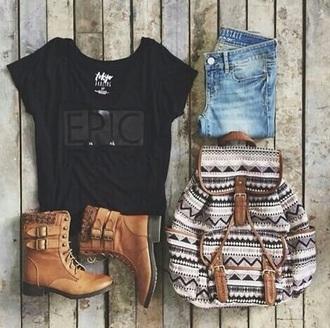bag backpack love living aztec bag tribal cardigan skirt shirt cardigan jeans