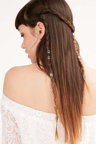 hair accessory silver jewelry urban outfitters