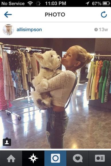 beauty alli simpson overalls crop tops puppies jewels jumpsuit
