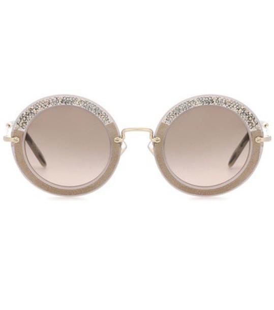 Miu Miu noir sunglasses round sunglasses