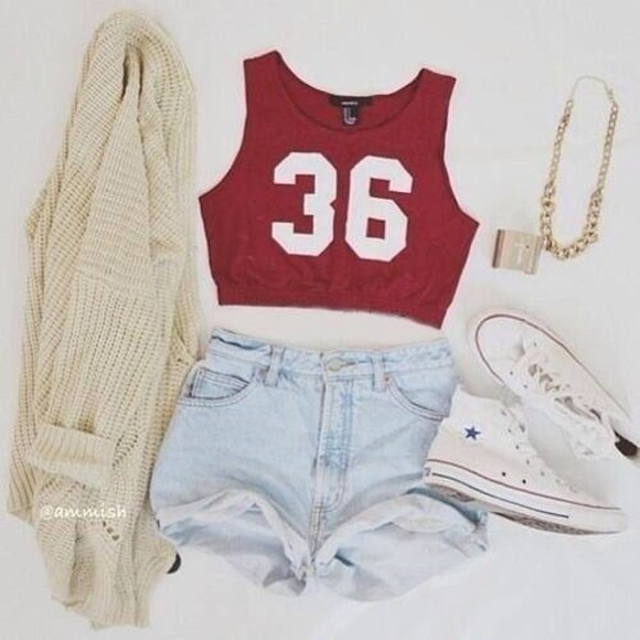 shorts high waisted short denim tank top high-wasted denim shorts high waisted denim shorts crop tops red light blue beautiful weheartit cardigan coat