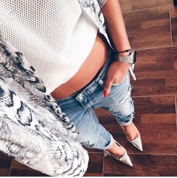 cardigan snake skin indie instagram hipster dope top