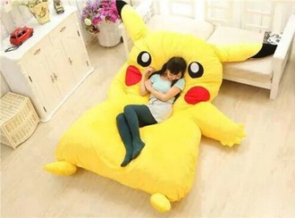 home accessory bean bag pikachu
