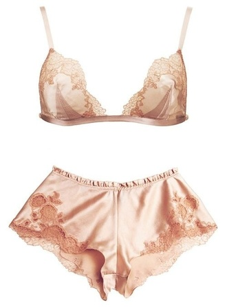 underwear pink lace silk underwear with shorts