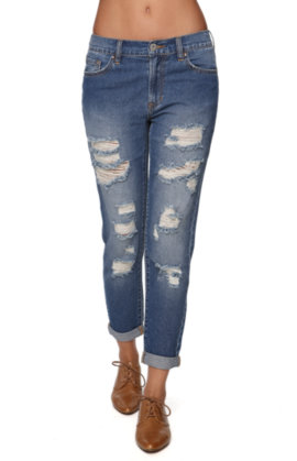 Bullhead Denim Co Mid Rise Boyfriend Jeans at PacSun.com
