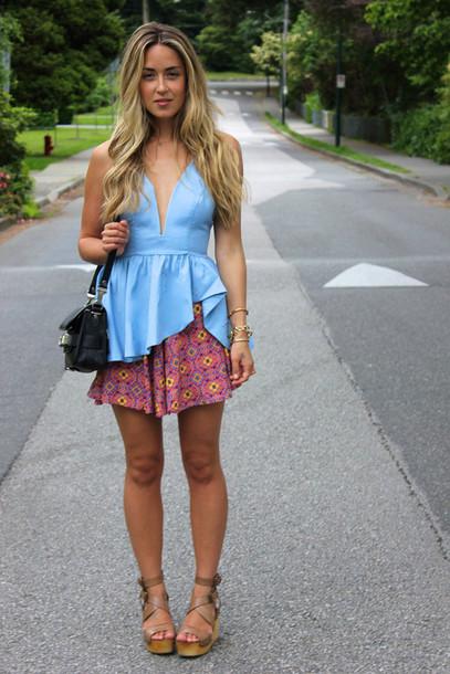 a fashion love affair top skirt jewels bag shoes