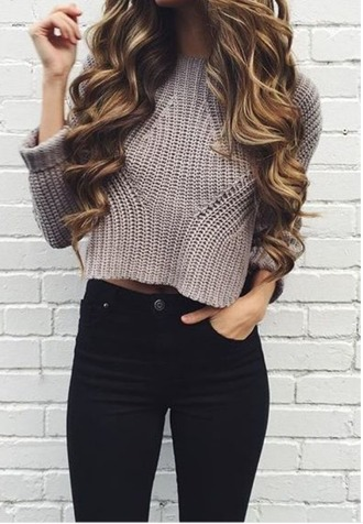 sweater cropped knit sweater clothes cropped sweater knitted sweater