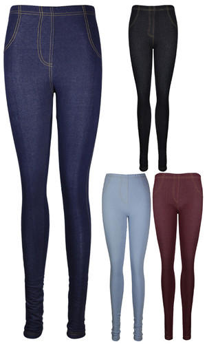 Womens Skinny Fitted Ladies Denim Stretch Jeggings Long Trousers Jeans Leggings | Amazing Shoes UK