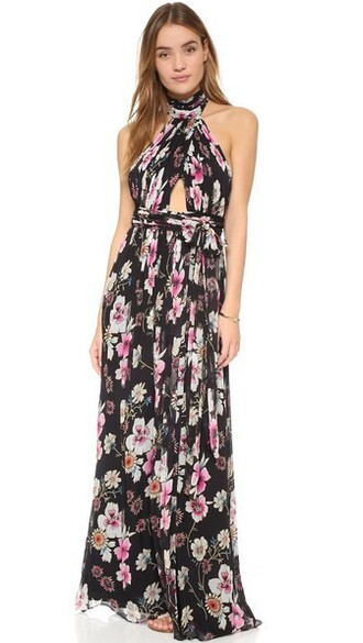 gown floral dress