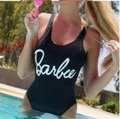 swimwear,barbie,girly,girl,girly wishlist,one piece swimsuit,one piece,black