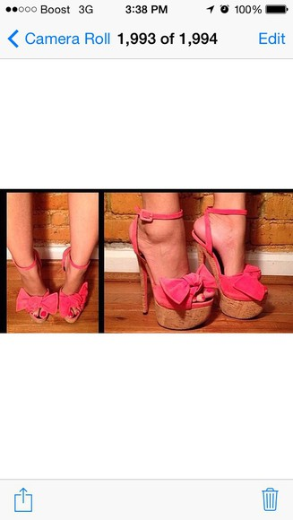 shoes giuseppe zanotti high heels pink high heels pink bows pink sandals