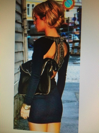 navy dress homecoming dress prom backless dress backless sequin dress style gold sequins gold sleeves