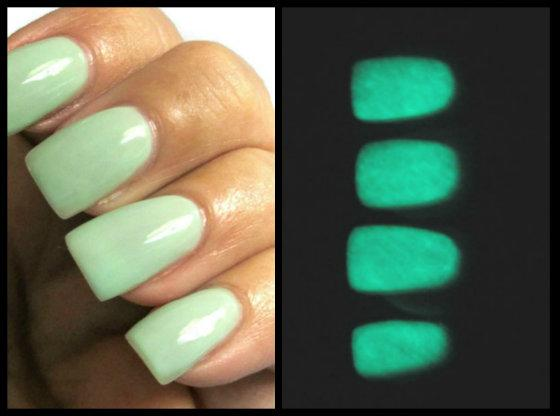 Glow In The Dark Nail Polish Mint Green by VanityPolishBoutique