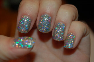 nail polish glitter nails nail sweet girl perfect colorful color/pattern want ittt metallic nails