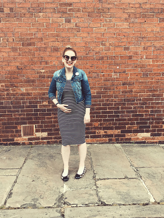 j for jen blogger dress jacket sunglasses