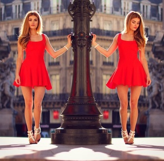 dress red dress short dress pamela_rf