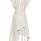 Lief wrap-front silk dress