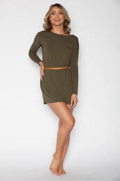dress,olive green,tunic,long sleeve dress,long sleeves,hipster