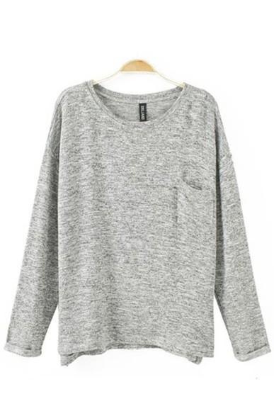 pocket grey loose fit