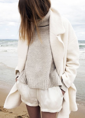 sweater jumper polo sweater cream sweater beige sweater classy