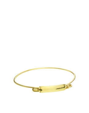 ASOS | ASOS ID Plaque Fine Bangle at ASOS